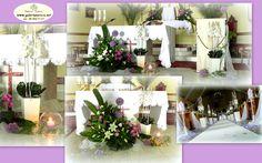 czosnek dobkowice Church Flower Arrangements, Iglesias, Cos, Table Decorations, Flowers, Furniture, Home Decor, Floral Arrangements, Flower Arrangements