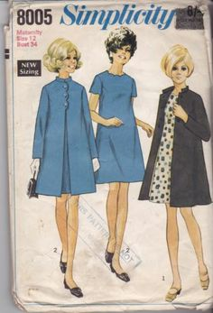 60s Simplicity sewing pattern