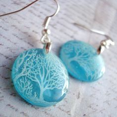 winter willow earrings