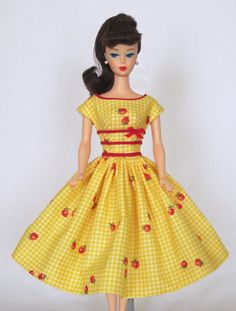 Picnic in the Park - Vintage Barbie Doll Dress Reproduction Barbie Clothes on eBay http://www.ebay.com/usr/fanfare1901?_trksid=p2047675.l2559