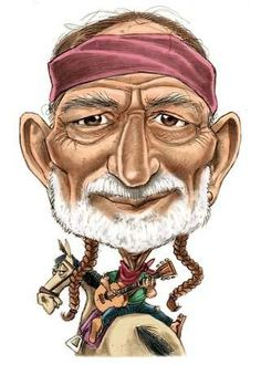 WILLIE NELSON (Caricature) Dunway Enterprises - http://www.learn-to-draw.org/caricatures_clb.html?hop=dunway