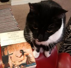 Another proud owner of Revered and Reviled snapped a photo with her approving kitty.  Available on Amazon http://amzn.to/2gUNnGV
