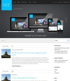 Fizz – Универсальный шаблон для WordPress Wordpress Theme, Desktop Screenshot