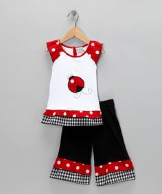 cute outfit to wear to a 'ladybug' first birthday party!