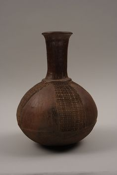 Igbo (Nigeria), Vessel, n.d., ceramic, 12 3/8 x 9 x 9 inches, collection of the Frances Young Tang Teaching Museum and Art Gallery, gift of ...