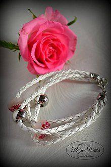 Náramky - Náramok Nežná ružová (2091 A) - 7668867_