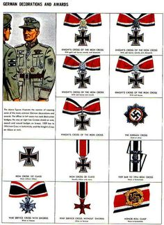 German Decorations and Awards World War II Iron Crosses