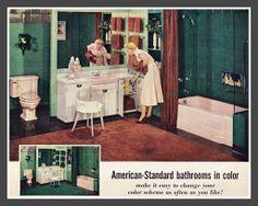 1940's, American Standard bathroom ad