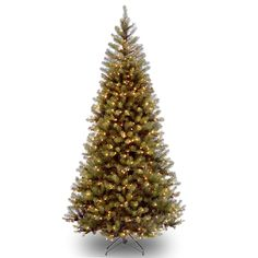 Aspen Spruce 7' Hinged Artificial Christmas Tree with 400 Clear Lights