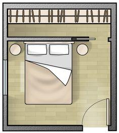 In linea. Servono almeno 350 cm di sviluppo lineare per un'organizzazione funzionale del guardaroba. Non sono comunque tanti, ma diventa indispensabile sfruttare completamente l'altezza.