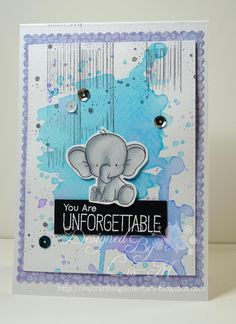 My Mum's Craft Shop: Adorable Elephants, MFT Stamps, My Favorite Things, Lis Murphy, Design Team