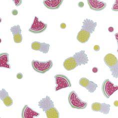 Deze confetti met lieve ananasjes, partjes watermeloen en frisse rondjes in geel, roze en groen is heel veelzijdig. Strooi het op je hapjestafel of sweet table voor een mooie finishing touch. Stop een klein beetje confetti bij de uitnodiging voor je tuinfeest, zomerse BBQ of 'Party like a Pineapple' feest. Gebruik het bij het inpakken van je partyfavors of bij een zomers cadeau voor het feestvarken.  Gegarandeerd suces!