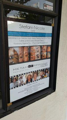Spa & Photo Studio: outdoor signage Facial Room, Scalp Micropigmentation, Outdoor Signage, Beauty Lounge, Facials, Bridal Makeup, Photo Studio, Eyebrow, Lashes