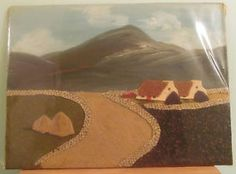 VINTAGE-IRISH-TWEED-HAND-MADE-PICTURE-PAINTING-LANDSCAPE-BY-NUALA-MCGOVERN Make Pictures, Style Guides, Landscape Paintings, Tweed, Irish, Polo, Concept, Handmade, Ebay