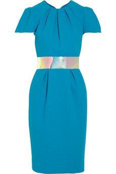Roksanda Ilincic Oriel color-block wool-crepe dress | NET-A-PORTER