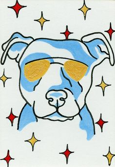 Pitbull Dog Lover Art Pitbull puppy drawing by ClarityArtDesign