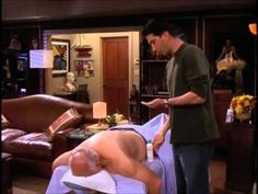 Ross and the salad tong massage!