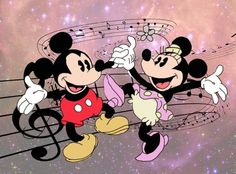 Aww! Love this Mickey and Minnie piece.