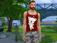 Mod The Sims - Final Fantasy Moogle Tank Top - Burgandy