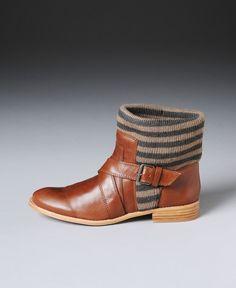 Splendid Knit Ankle Strap Short Boots