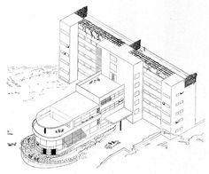Machnáč Sanatorium, Jaromír Krejcar, Trenčianske Teplice, Czechoslovakia 1930-32 International Style, Prague, Utility Pole, Identity, Presentation, Louvre, Architecture, Building, Travel