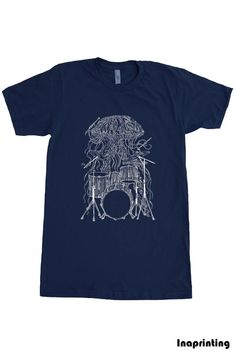 Hey, I found this really awesome Etsy listing at https://www.etsy.com/listing/103448452/mens-jellyfish-playing-drums-american