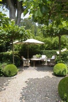 Groen met witte tuin