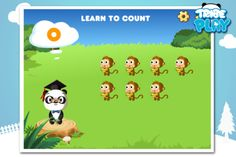 Can you count the monkeys in French?  German?  Chinese?    https://itunes.apple.com/us/app/dr.-panda-teach-me!-preschool/id507348165?mt=9  https://play.google.com/store/apps/details?id=air.com.tribeplay.drpanda  http://www.amazon.com/gp/product/B007SVZ0XQ?ie=UTF8=mas_dl