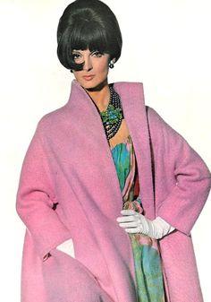 Mirella Petteni is wearing Trigere, 1965