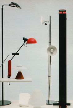 Group Display of Italian Lighting, Circa 1979