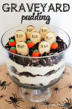 Halloween Treat - Graveyard Pudding