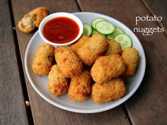 potato nuggets recipe, spicy potato nuggets, potato snacks recipes with step by step photo/video. vegetarian version of the chicken McNuggets by McDonald's. Cutlets Recipes, Pakora Recipes, Paratha Recipes, Paneer Recipes, Veg Recipes, Spicy Recipes, Kitchen Recipes, Indian Food Recipes, Snacks Recipes