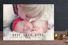 Best Year Ever Holiday Photo Cards by MAEK Paper at minted.com
