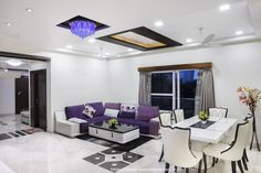 Best Interior Designers in Hyderabad. Nifty Interio provides award winning interior designer for interior design services in Luxury villa, office, apartments, corporate, residential spaces by Interior Decorators. Architecture Durable, Architecture Résidentielle, Loft Design, House Design, Living Room Furniture, Living Room Decor, Dining Room, Dining Table, Dining Decor