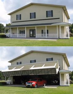 Now THAT is a garage! How nice would THAT be with a loft above it??!