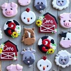 Cow Birthday, 2nd Birthday Party Themes, Second Birthday Ideas, Farm Animal Birthday, Birthday Cookies, Birthday Banners, Birthday Invitations, Barnyard Party, Farm Party