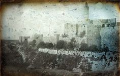 Earliest pictures of Jerusalem were taken in 1844 by French photographer and draughtsman Joseph-Philibert Girault de Prangey (1804 – 1892) http://www.shootingfilm.net/2014/01/the-earliest-pictures-of-jerusalem-from.html?m=1