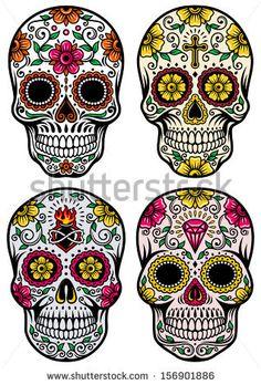 Day Of The Dead Skull Vector Set by vectorfreak, via Shutterstock