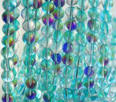 "8MM Yellow Frosted Matte Mystic Aura Quartz Gemstone Round Loose Beads 15/"""