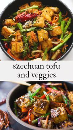 Vegan Stir Fry, Vegetarian Stir Fry, Tasty Vegetarian Recipes, Vegetable Recipes, Stir Fry With Tofu, Crispy Tofu Stir Fry Recipe, Veggie Asian Recipes, Shrimp Vegetable Stir Fry, Chinese Vegetable Stir Fry