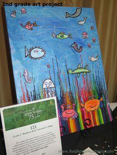 Crayon art for a school art class project School Auction Projects, Auction Ideas, Class Projects, Art Projects, 2nd Grade Art, School Fundraisers, Crayon Art, Art School, Fundraising