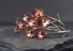 Cherry Blossom Flower Branch Cuff 1 Sakura bracelet by HapaGirls, $48.00