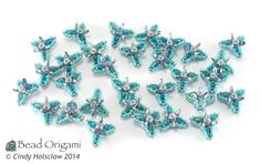 30 Fairy Triangles Components, for Earrings, Bracelets, and Beaded Beads - Cindy Holsclaw - Bead Origami