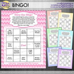 Items similar to Direct Sales Consultant, BINGO game cards - DIY, digital file on Etsy Thirty One Games, Thirty One Party, My Thirty One, Bingo Games, Party Games, Party Points, Team Online, 31 Party, Bingo Board