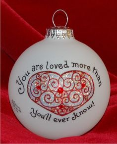 You Are Much Loved | Hand Personalized Christmas Ornaments by Russell Rhodes Christmas Crafts To Make, Winter Crafts For Kids, First Christmas Ornament, Personalized Christmas Ornaments, Glass Christmas Ornaments, Christmas Balls, Christmas Centerpieces, Rustic Christmas, Xmas Decorations