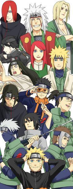 various Naruto characters