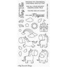 My Favorite Things MAGICAL UNICORNS Clear Stamps BB34 zoom image