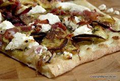 grain de sel - salzkorn: Pizza mit Frühlingszwiebeln, Kartoffeln und Ziegen...