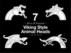 Viking Ornaments A set of 45 editable vector and Hi-res graphics From the Anatomy of Viking Art Series All the designs are based on the principles and characteristics of the actual Viking Age art styles of ornaments from artefacts found predominantly i Viking Dragon, Viking Shield, Celtic Symbols, Celtic Art, Viking Age Art, Viking Knotwork, Viking Ornament, Viking Images, Viking Embroidery