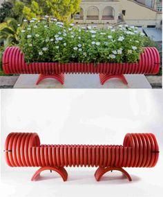Tubi / Jardinera reciclando tubos de pvc